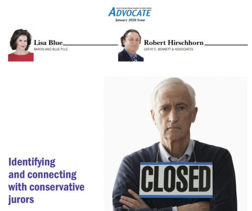 Lisa Blue and Robert Hirschhorn Advocate Article January 2020